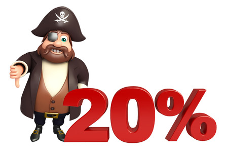 tricorne: Pirate with 20% sign