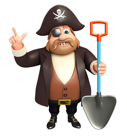 Pirate with  Digging shovel
