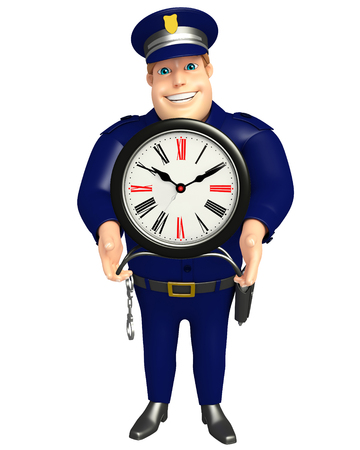 Police with Clock