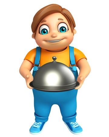 kid boy with Cloche Stock Photo