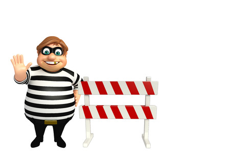 burgle: 3d rendered illustration of thief with Stock Photo