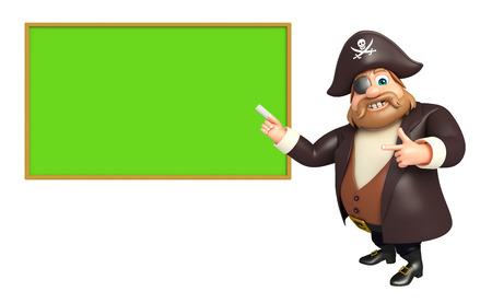 tricorne: Pirate with Black board Stock Photo