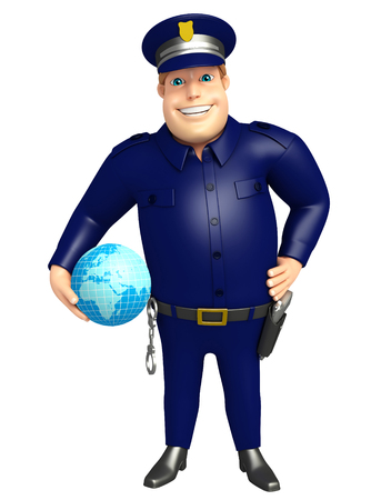 Police with Earth sign