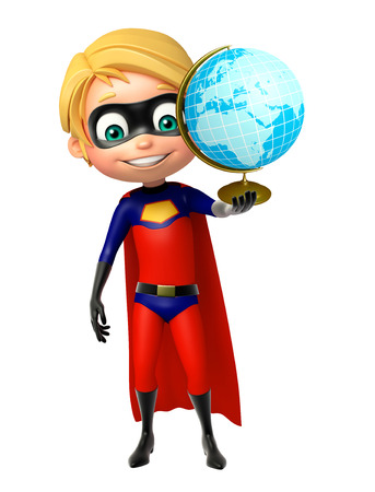 superboy: Superboy with Earth sign Stock Photo