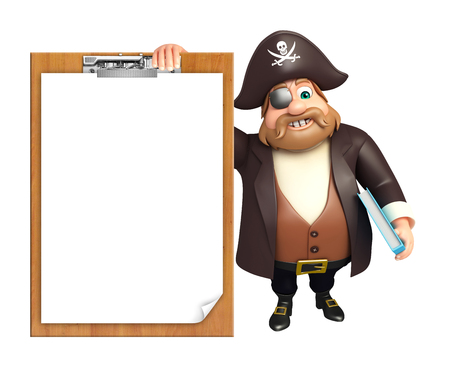 tricorne: Pirate with Exam pad & book