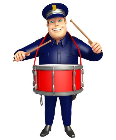 ドラムと警察