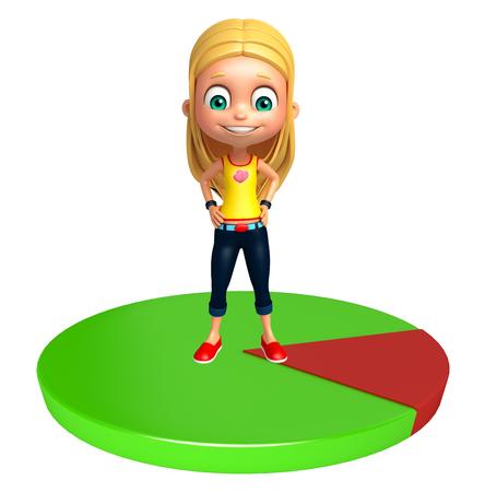 kid girl with Circle
