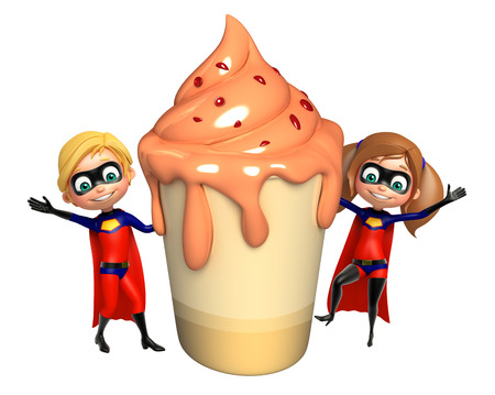 supergirl: Superboy and Supergirl with Ice cream