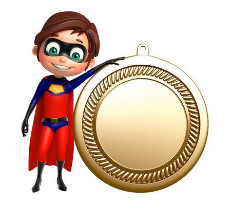 superboy: Superboy with medal
