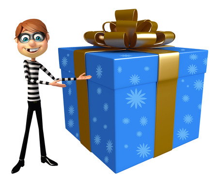 burgle: Thief with Gift box