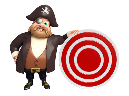 Pirate with Target sign