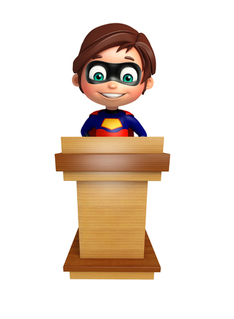 stage costume: Superboy with Speech stage Stock Photo