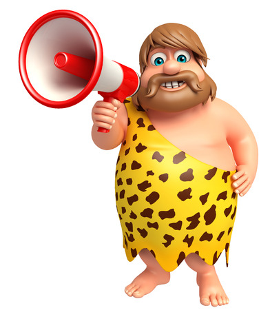 Caveman with Loudspeaker