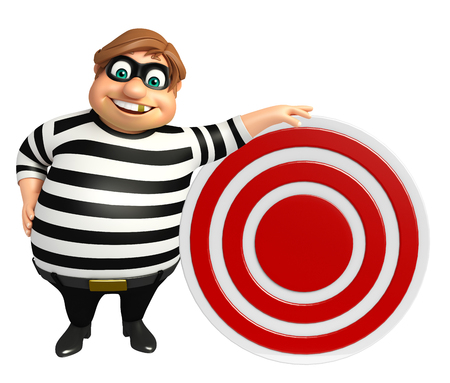 kidnapper: Thief with Target sign