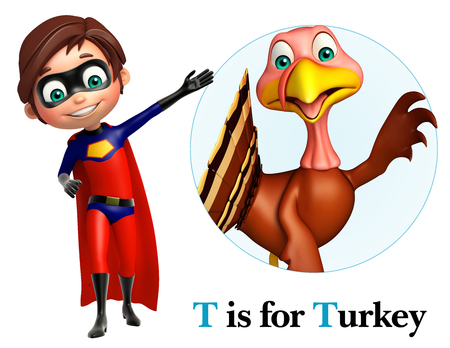 toonimal: Super boy pointing Turkey