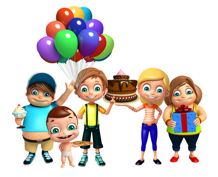 party girl: kid girl, kid boy and cute baby with kid group