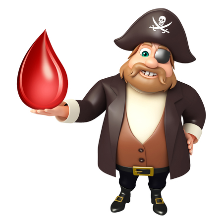 Pirate with Blood drop Stock Photo