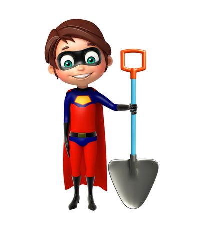 superboy: Superboy with  Digging shovel
