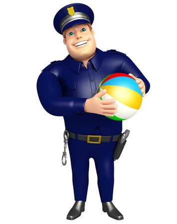 big ball: Police with Big ball