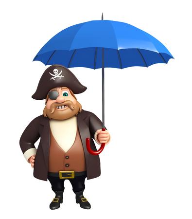Pirate with Umbrella