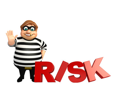 3d rendered illustration of thief with Stock Photo