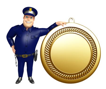 メダルと警察