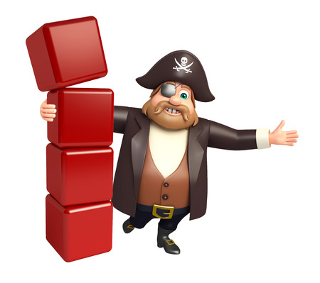 tricorne: Pirate with Level Stock Photo