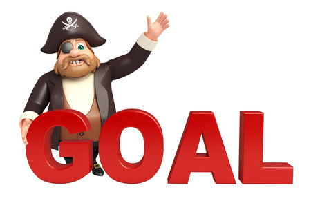 tricorne: Pirate with Goal sign