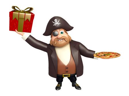tricorne: Pirate with Pizza & giftbox