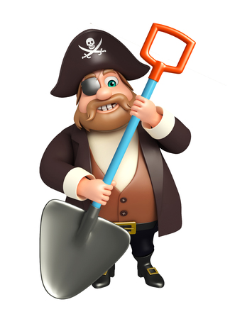 digging: Pirate with  Digging shovel