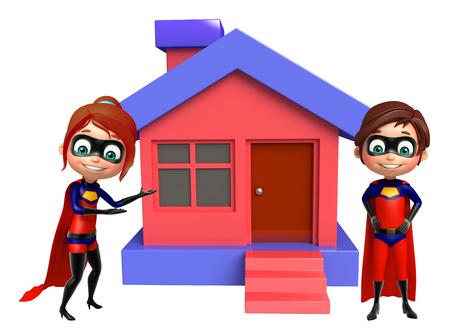 superboy: superboy and supergirl with Home