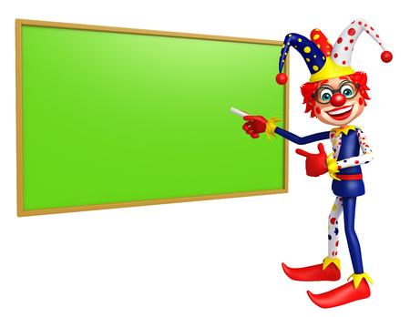 green board: Clown with Green board