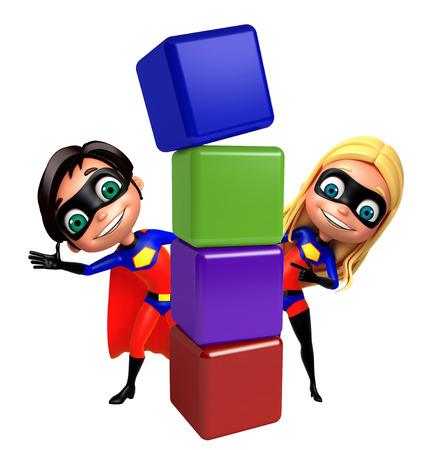superboy: Superboy and Supergirl with Level