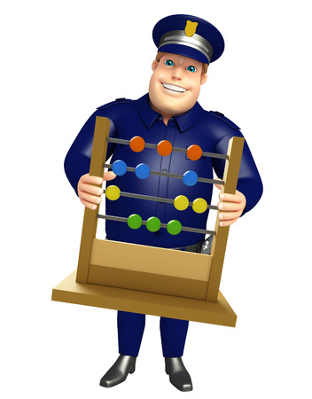 Police with Abacus slate