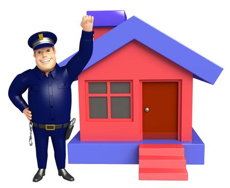 ホームで警察