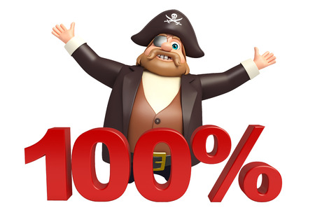 tricorne: Pirate with 100% sign