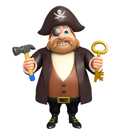 cross bone: Pirate with Key & Hammer