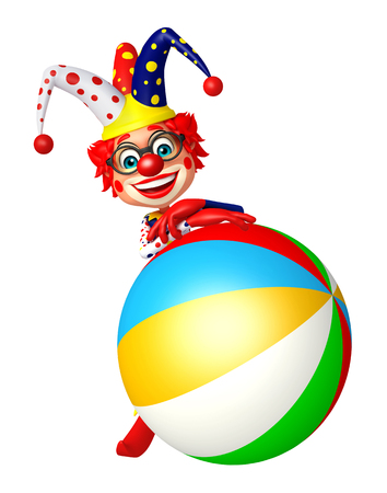 Clown with Big ball