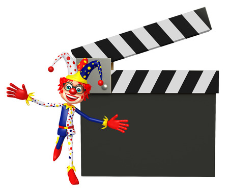 Clown with Clapper board