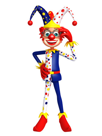red nose: Clown with Fun pose