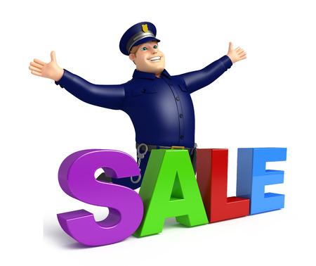 売却の記号と警察