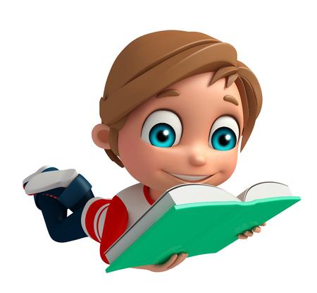 Kid boy with Book Фото со стока