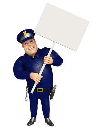 Police with White board