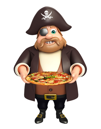 tricorne: Pirate with Pizza