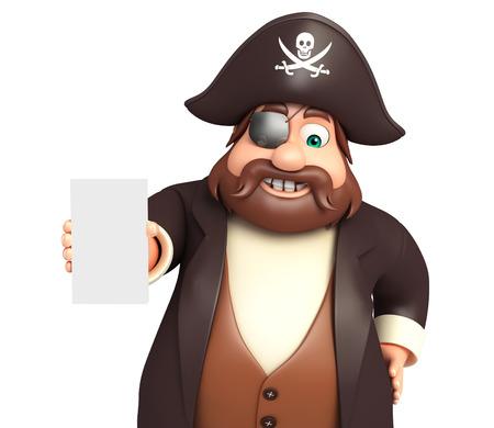 tricorne: Pirate with Mobile pose