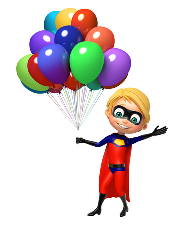 superboy: Superboy with Balloons