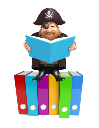 Pirate with Files & book