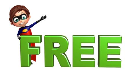 superboy: Superboy with Free sign