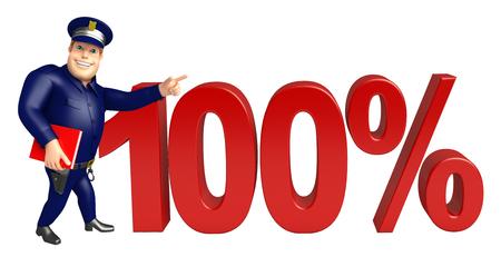 100% の署名と警察 写真素材
