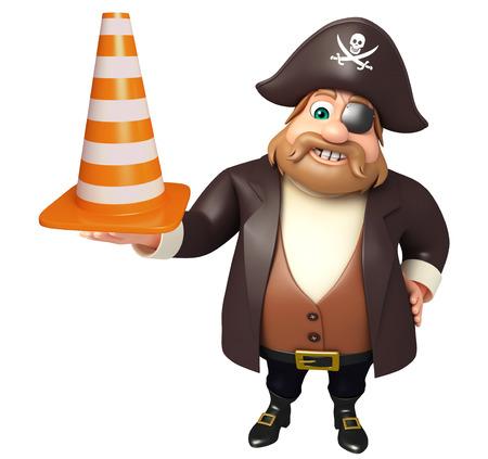 tricorne: Pirate with construction cone
